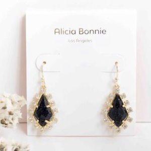 ✂️ALICIA BONNIE Thetis Black Obsidian Earrings